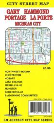 Buy map Gary, Hammond, Portage, La Porte and Michigan City, Indiana by GM Johnson from Indiana Maps Store