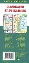 Buy map St. Petersburg and Clearwater, Florida by GM Johnson from Florida Maps Store
