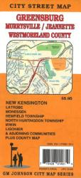 Buy map Greensburg, Murrysville, Jeannette and Westmoreland County, Pennsylvania by GM Johnson
