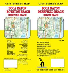 Buy map Boca Raton, Deerfield Beach, Boynton Beach, and Delray Beach, Florida by GM Johnson from Florida Maps Store