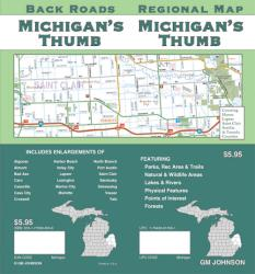 Buy map Michigans Thumb, Back Roads by GM Johnson
