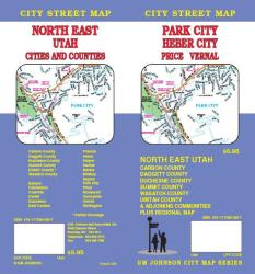 Buy map Park City, Heber City, Price and Vernal, Utah by GM Johnson from Utah Maps Store