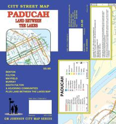 Buy map Paducah, Kentucky, with Land Between the Lakes by GM Johnson from Kentucky Maps Store