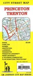 Buy map Princeton and Trenton, New Jersey by GM Johnson in New Jersey Map Store