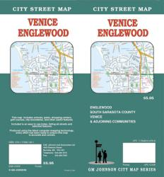 Buy map Venice and Englewood, Florida by GM Johnson from Florida Maps Store