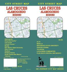 Buy map Las Cruces, Alamagordo and Ruidoso, New Mexico by GM Johnson from New Mexico Maps Store