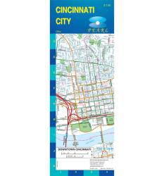 Buy map Cincinnati, Ohio, Pearl Map, laminated by GM Johnson from Ohio Maps Store