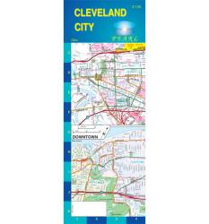 Buy map Cleveland, Ohio, Pearl Map, laminated by GM Johnson from Ohio Maps Store