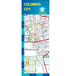 Buy map Columbus, Ohio, Pearl Map, laminated by GM Johnson from Ohio Maps Store