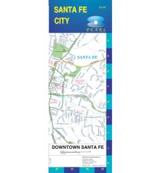 Buy map Santa Fe, New Mexico, Pearl Map, laminated by GM Johnson from New Mexico Maps Store