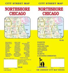 Buy map Chicago, Illinois, Northshore by GM Johnson from Illinois Maps Store