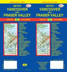 Buy map Vancouver, Metro and Fraser Valley, Canada by GM Johnson from British Columbia Maps Store