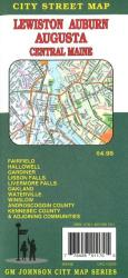 Buy map Lewiston, Auburn, Augusta and Central Maine by GM Johnson from Maine Maps Store
