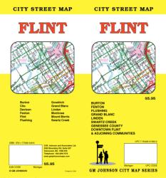 Buy map Flint, Michigan by GM Johnson from Michigan Maps Store