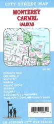 Buy map Monterey, Carmel, and Salinas, California by GM Johnson from California Maps Store
