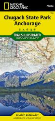 Buy map Chugach State Park and Anchorage, Alaska, Map 764 by National Geographic Maps from Alaska Maps Store