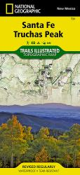 Buy map Santa Fe and Truchas Peak, NM, Map 731 by National Geographic Maps from New Mexico Maps Store