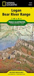 Buy map Logan Bear River Range, Map 713 by National Geographic Maps from Utah Maps Store