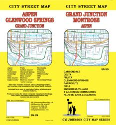 Buy map Grand Junction, Montrose and Aspen, Colorado by GM Johnson
