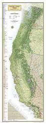 Buy map Pacific Crest Trail, Boxed Wall Map by National Geographic Maps from United States Maps Store