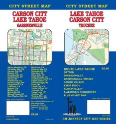 Buy map Lake Tahoe, California with Carson City, Minden and Garnerville by GM Johnson from United States Maps Store
