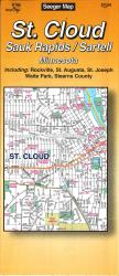 Buy map St. Cloud, Sauk Rapids and Sartell, Minnesota by The Seeger Map Company Inc. from Minnesota Maps Store