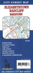 Buy map Elizabethtown, Radcliff, Bardstown and Vine Grove, Kentucky by GM Johnson from Kentucky Maps Store