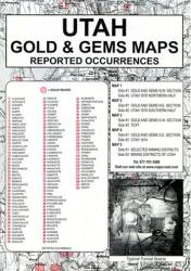 Buy map Utah, Gold and Gems, 5-Map Set, Then and Now by Northwest Distributors from Utah Maps Store