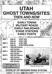 Buy map Utah, Ghost Towns and Sites, 6-Map Set, Then and Now by Northwest Distributors from Utah Maps Store