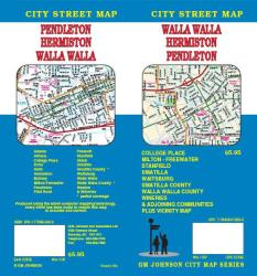 Buy map Walla Walla, Hermiston and Pendleton, Washington by GM Johnson in Washington Map Store