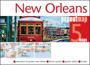 Buy map New Orleans, Louisiana, PopOut Map by PopOut Products from Louisiana Maps Store