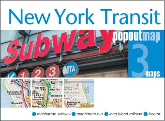 Buy map New York City, New York, Transit PopOut Map by PopOut Products