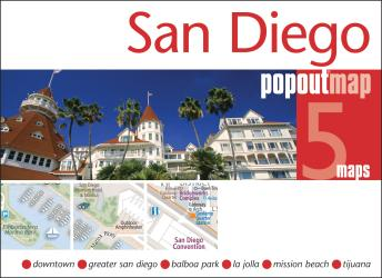 Buy map San Diego, California, PopOut Map by PopOut Products