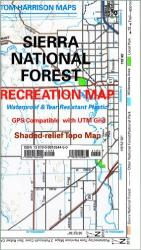 Buy map Sierra National Forest, California by Tom Harrison Maps from California Maps Store