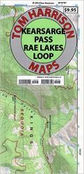 Buy map Kearsarge Pass and Rae Lakes Loop by Tom Harrison Maps
