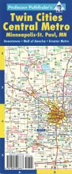 Buy map Twin Cities, Minnesota, Metro Area, laminated by Hedberg Maps from Minnesota Maps Store