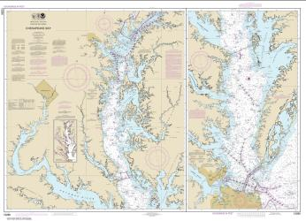 Buy map Chesapeake Bay Nautical Chart (12280) by NOAA from Maryland Maps Store