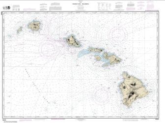 Buy map Hawaiian Islands Nautical Chart (19004) by NOAA from Hawaii Maps Store