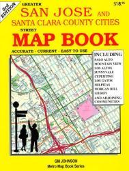 Buy map San Jose and Santa Clara County, CA, Street Map Book by GM Johnson