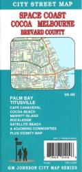 Buy map Cocoa, Melbourne and Brevard County, Florida by GM Johnson