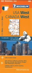 Buy map USA, Western and Canada, Western (585) by Michelin Maps and Guides from Canada Maps Store