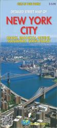 Buy map New York City, detailed streets of Bronx, Brooklyn, Queens, Manhattan, Staten Island by Global Graphics