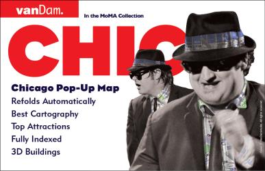 Buy map Chicago, Illinois Pop-Up by VanDam from Illinois Maps Store