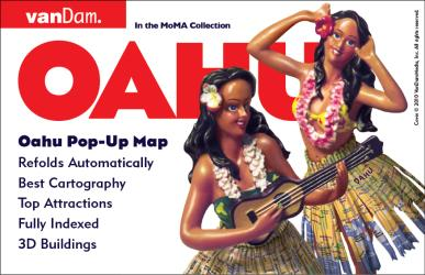 Buy map Oahu, Hawaii Pop-Up by VanDam from Hawaii Maps Store