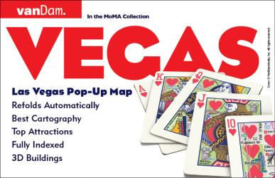 Buy map Las Vegas, Nevada Pop-Up by VanDam