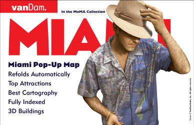 Buy map Miami, Florida Pop-Up by VanDam from Florida Maps Store