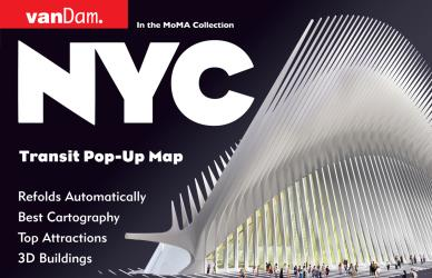 Buy map New York City, Transport Pop-Up by VanDam from New York Maps Store