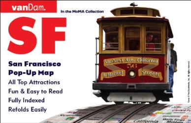 Buy map San Francisco, California Pop-Up by VanDam from California Maps Store
