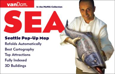 Buy map Seattle, Washington Pop-Up by VanDam from Washington Maps Store