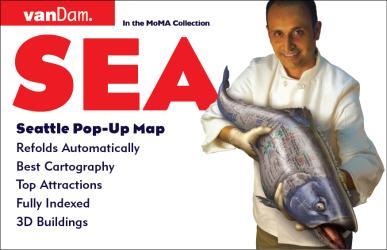 Buy map Seattle, Washington Pop-Up by VanDam